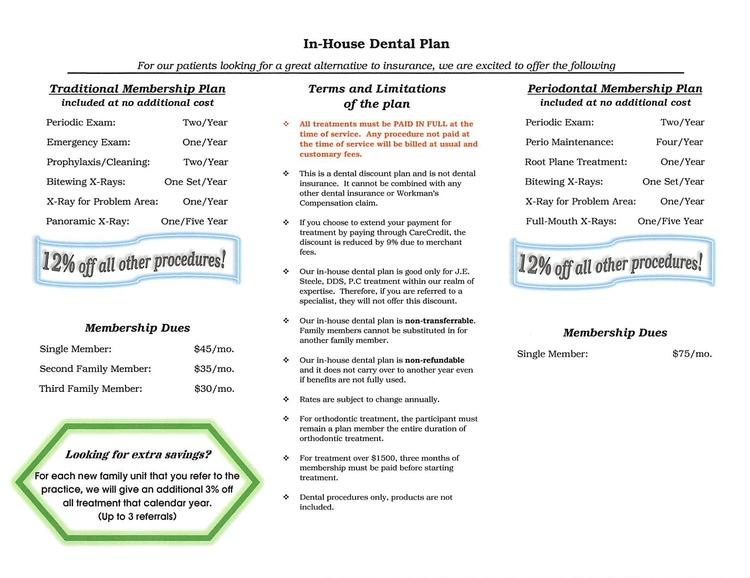 In-house Dental Plan Brochure